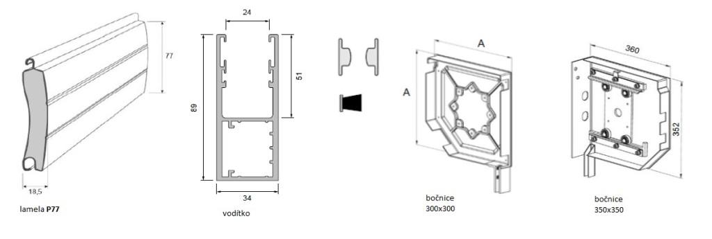 rolovaci vrata - technicka data